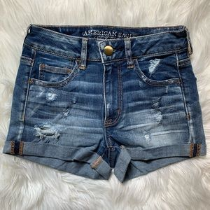 American Eagle Hi-Rise Denim Shorts